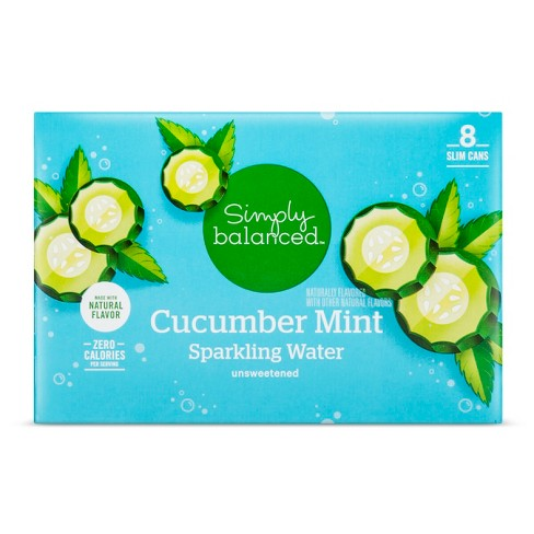 Cucumber Mint Sparkling Water - 8pk/12 fl oz Cans - Simply Balanced™ - image 1 of 2