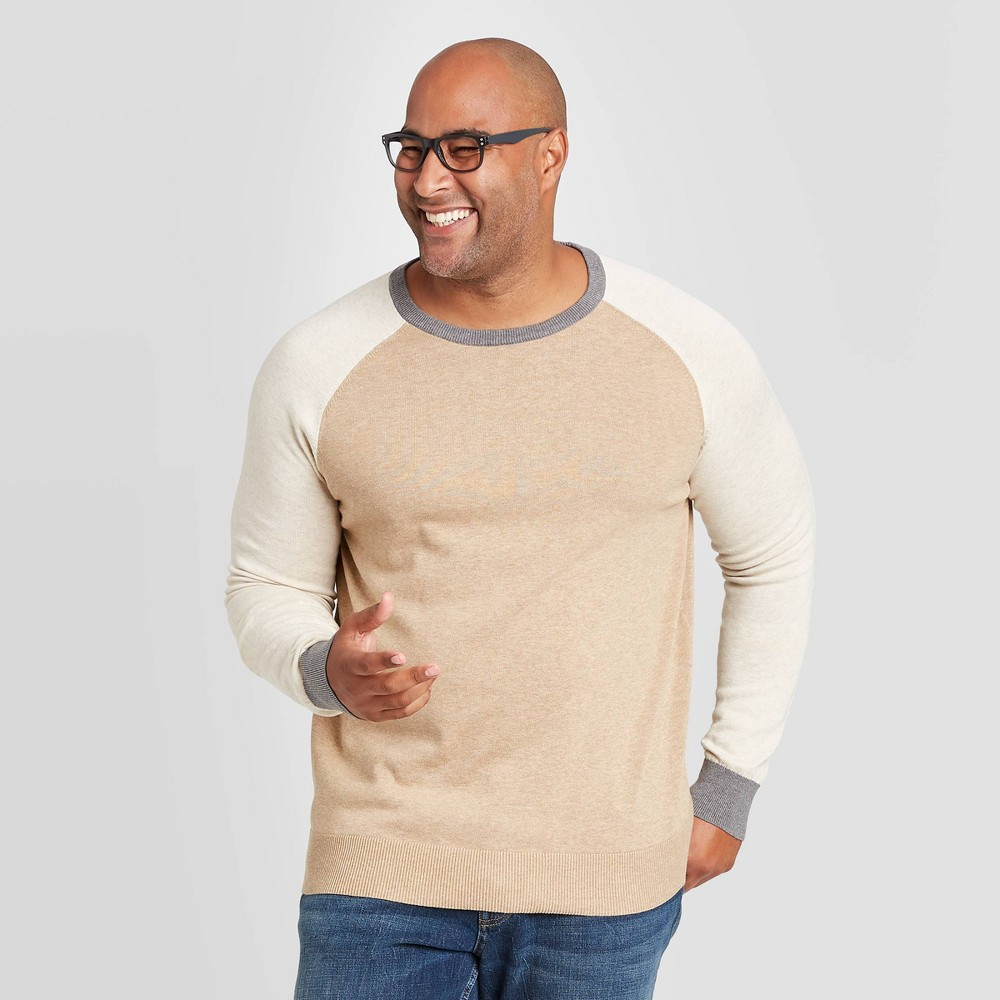 Discounts Men's Colorblock Big & Tall Regular Fit Crewneck Sweater - Goodfellow & Co™