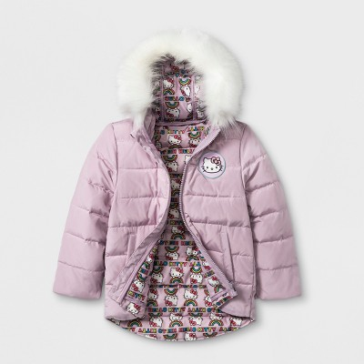 Toddler Girls' Hello Kitty Down Parka - Pink 2T