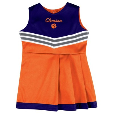 NCAA Clemson Tigers Girls' 2pc Cheer Set - 12M