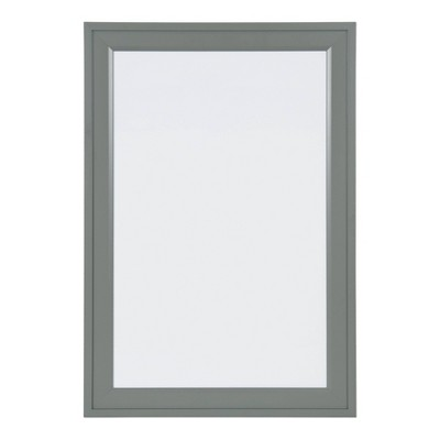 "19"" x 28"" Bosc Framed Magnetic Dry Erase Gray - DesignOvation"
