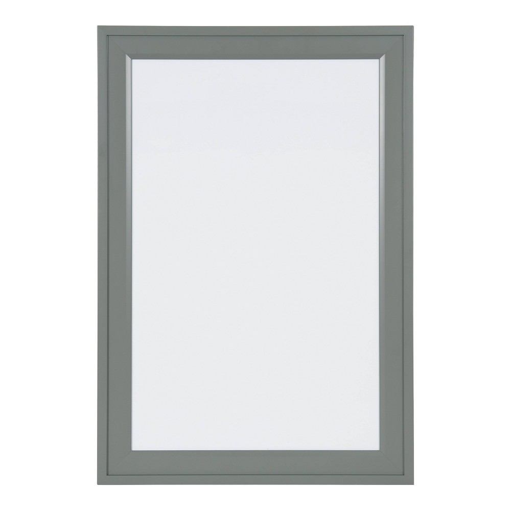 "Image of ""15"""" x 24"""" Bosc Dry Erase Board Gray - DesignOvation"""