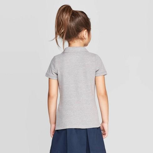 11cdb5d24 Toddler Girls' Short Sleeve Pique Uniform Polo Shirt - Cat & Jack ...