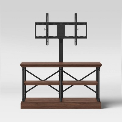 Conway Wood TV Stand with Cast Iron TV Mount Dark Brown - Threshold™