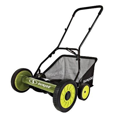 Sun Joe MJ502M Manual Reel Mower w/ Grass Catcher   20 inch