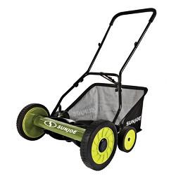 Sun Joe MJ502M Manual Reel Mower w/ Grass Catcher | 20 inch