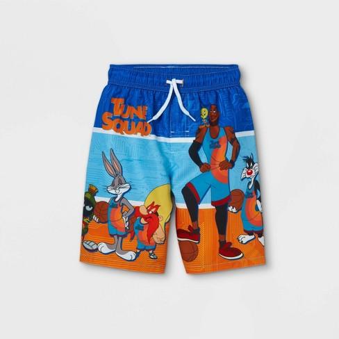 Boys' Warner Bros Space Jam Swim Trunks - Blue - image 1 of 2