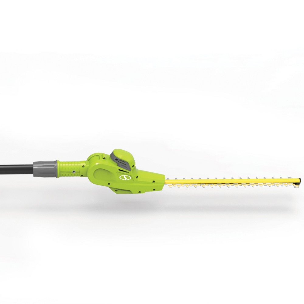 "Image of ""17"""" 20V Cordless Telescoping Pole Hedge Trimmer - Green - Sun Joe"""