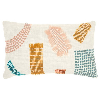 Life Styles Woven Patches Throw Pillow - Mina Victory