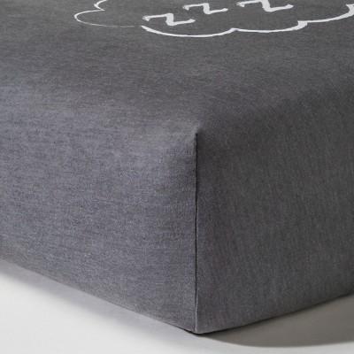 Circo™ Knit Fitted Crib Sheet - Gray ZZZZ's