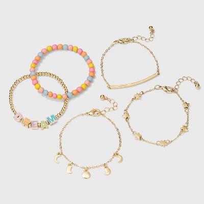 Girls' 5pk Dream and Star Bracelets - Cat & Jack™