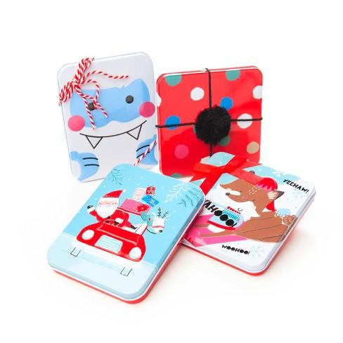4ct Whimsy Tin Flocked Gift Card Holder - Wondershop™ - image 1 of 1