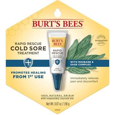 Burt's Bees Rapid Rescue Cold Sore Treatment - 0.07oz