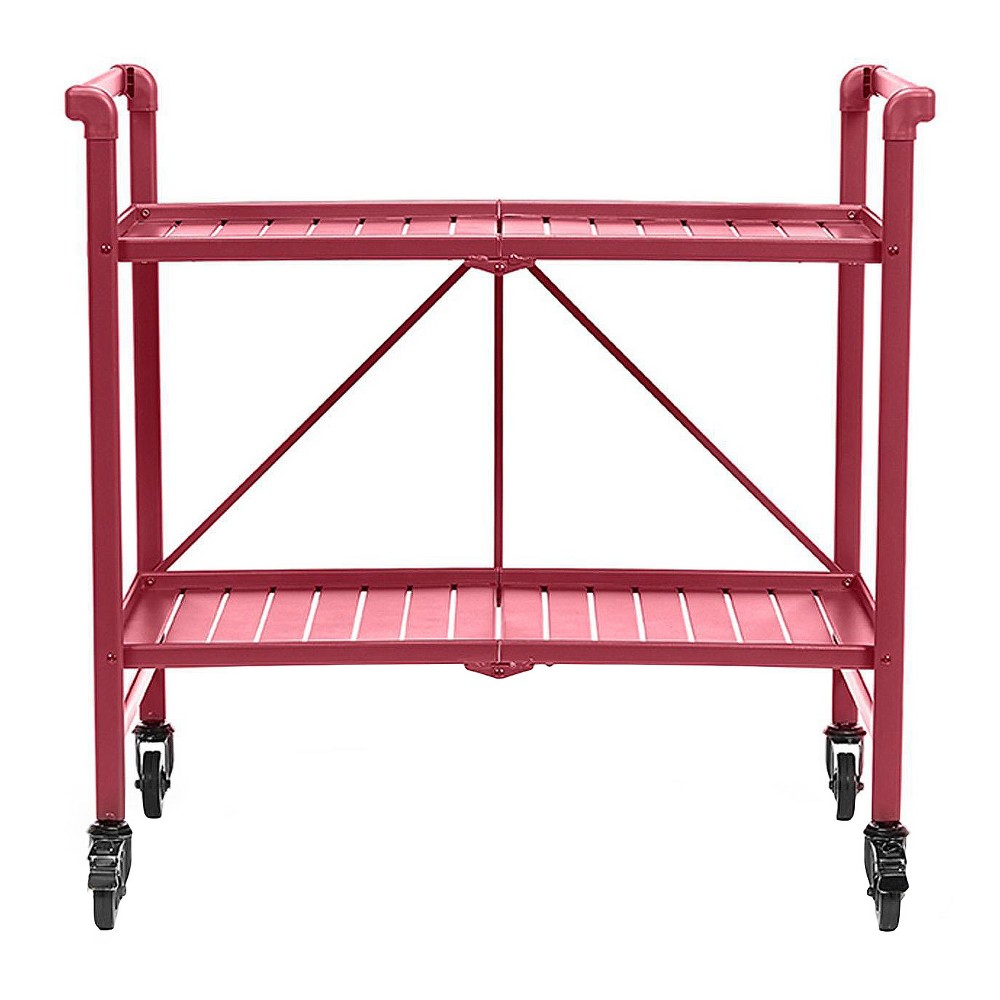 Indoor - Outdoor Folding Serving Cart - Ruby Red - Cosco