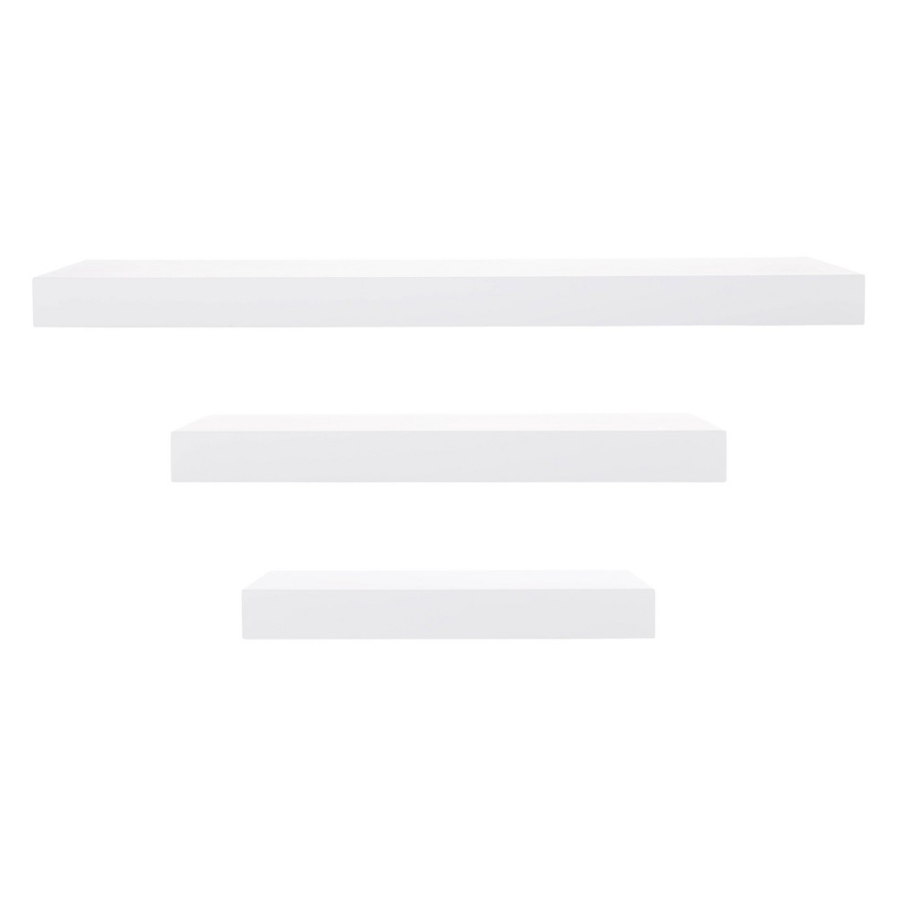 Image of 3pc Decorative Wall Ledge Shelf Set White - Nexxt