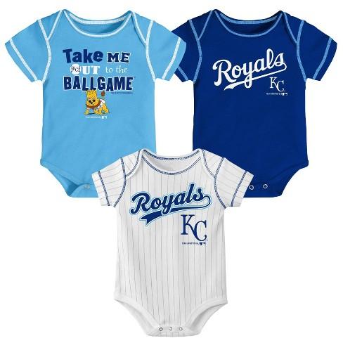 super popular 39d45 29f73 MLB Kansas City Royals Boys' 3pk Bodysuit Set