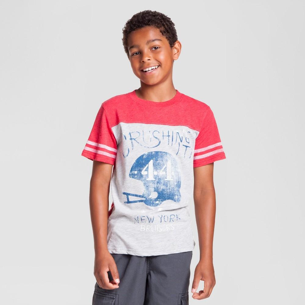Boys' Sporty Graphic T-Shirt - Cat & Jack Heather Gray L