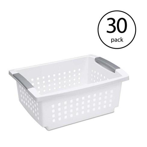 Sterilite Medium Sized White Stackable Storage & Organization Basket (30 Pack) - image 1 of 6