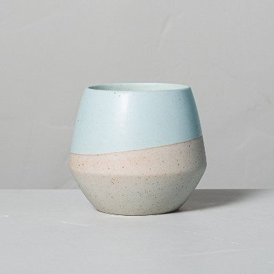 4.8oz Coastal Sage Decorative Geo Ceramic Seasonal Candle - Hearth & Hand™ with Magnolia