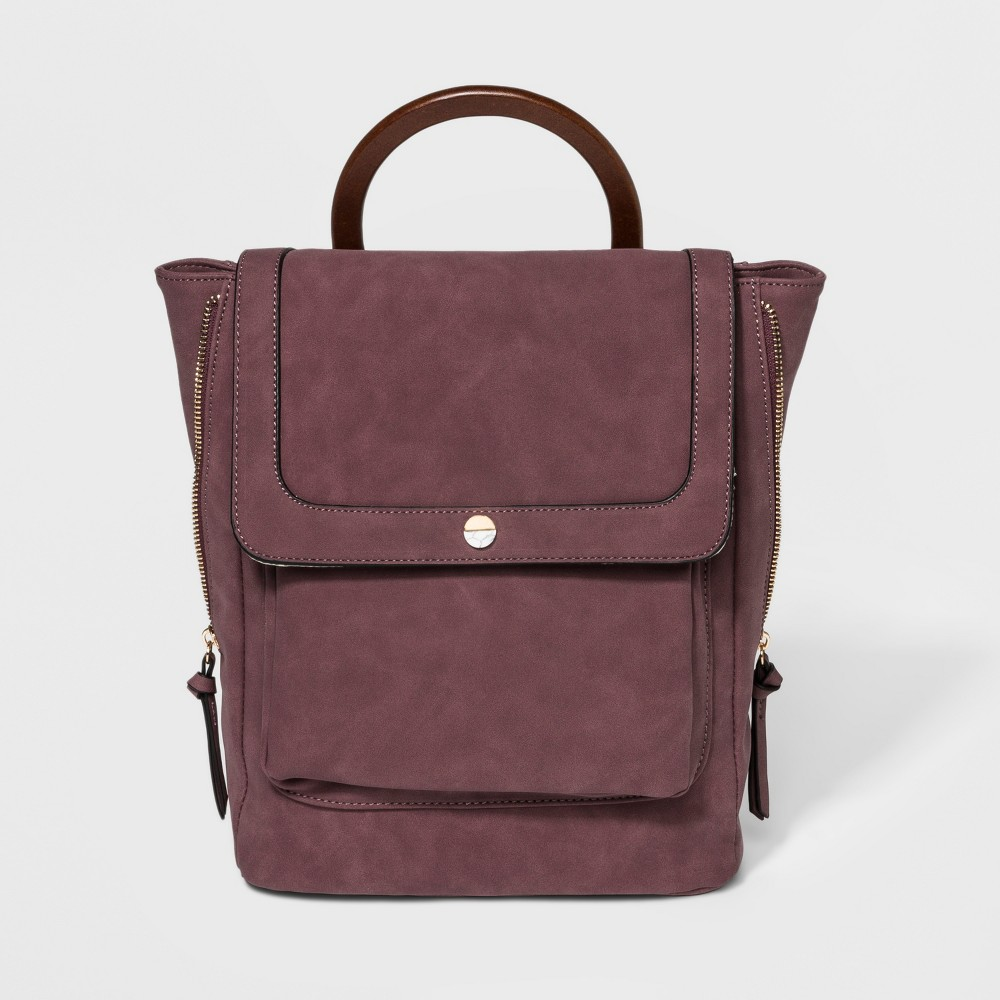 VR By Violet Ray Circle Stud Mini Backpack - Wineberry