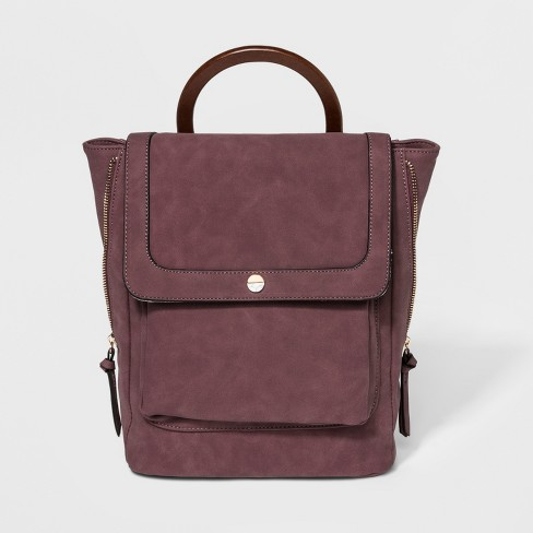 VR By Violet Ray Circle Stud Mini Backpack - Wineberry - image 1 of 4
