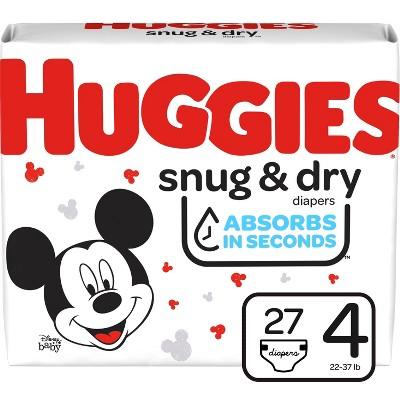 Huggies Snug & Dry Diapers - Size 4 - 27ct