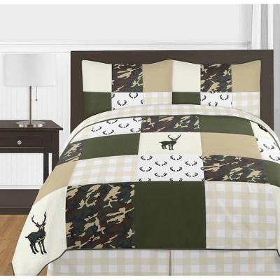 3pc Woodland Camo Full/Queen Bedding - Sweet Jojo Designs
