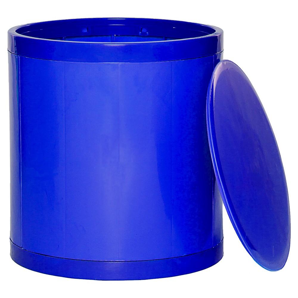 Image of GitaDini Storage Ottoman - Blue
