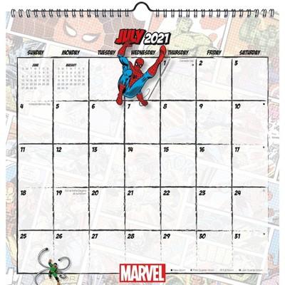 2022 Calendar Spiral Marvel Comics - Trends International Inc