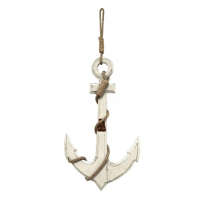 Stratton Home Decor 22.83 x12.6  Nautical Anchor Decorative Wall Art Set White