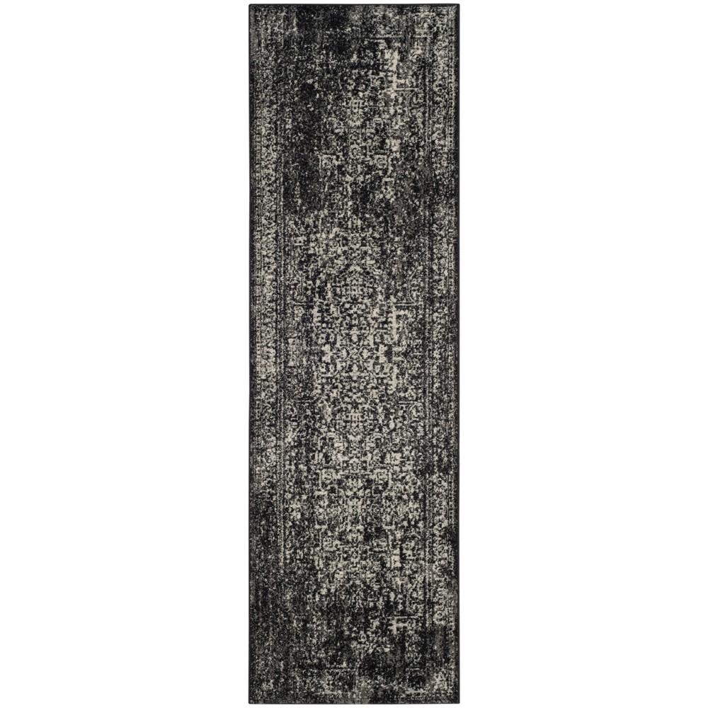 2'2X17' Loomed Medallion Runner Rug Silver - Safavieh, Silver/Ivory