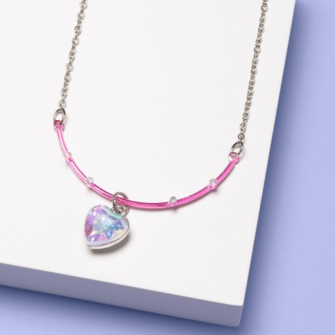 Girls' DIY Charm Necklace - More Than Magic™ Pink - image 1 of 2