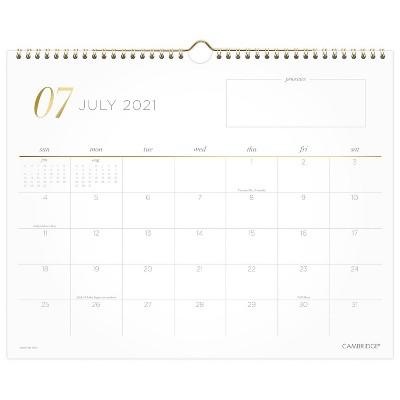 2021-22 Academic Wall Calendar Lucid - Cambridge