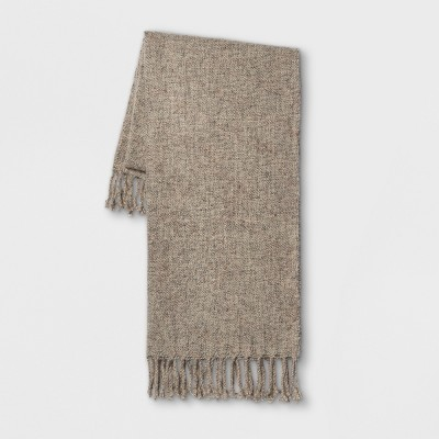 60 x50  Heathered Boucle Throw Blanket Neutral - Threshold™