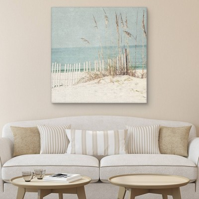 """35"""" x 35"""" At the Beach Light Square by Kristen Naugle Art on Canvas - Fine Art Canvas"""
