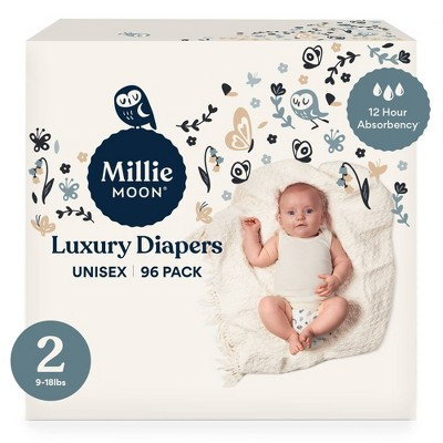 Millie Moon Luxury Diapers Size 2 - 96ct