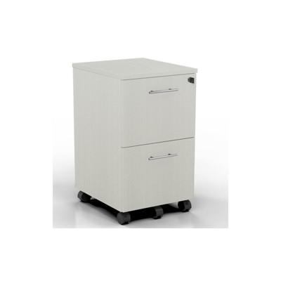 Medina Series 2 Drawer File Cabinet in Sea Salt White-Mayline