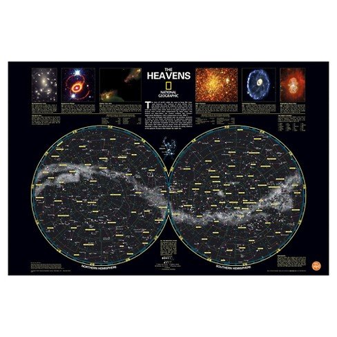 National Geographic Heavens Nat Geo Poster Decal - Black/Silver - image 1 of 2