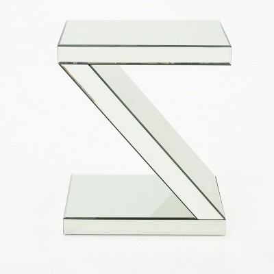 Auda Z Shaped Side Table Mirror - Christopher Knight Home