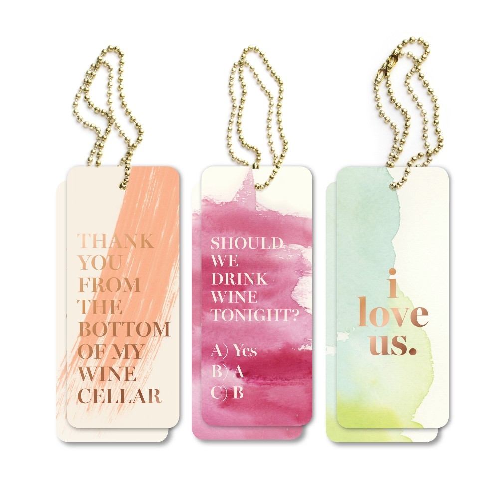 Image of 6ct Love Quote Gift Tags, gift packaging accessory sets