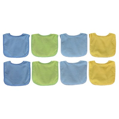 Neat Solutions Pastel 8pk Boy Bib with Water Resistant Core