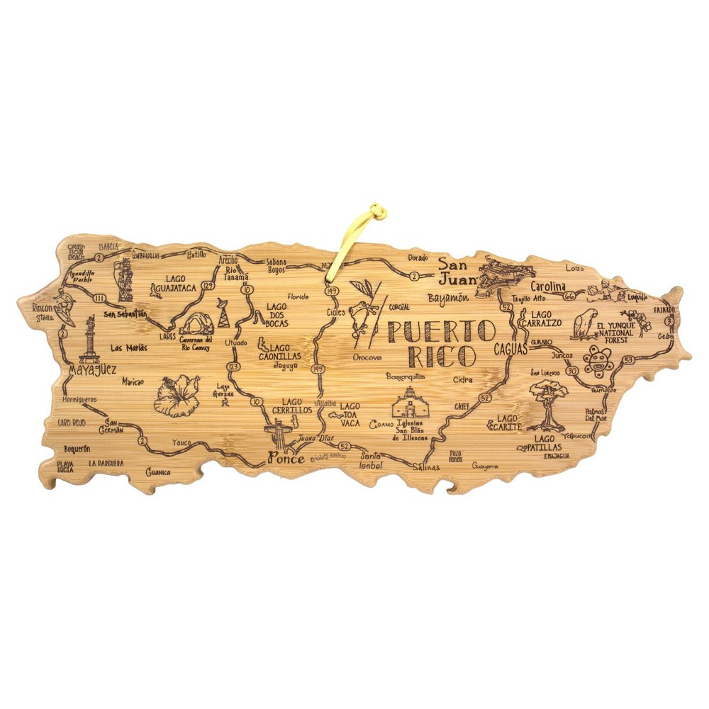 Best Totally Bamboo Destination Puerto Rico Serving and Cutting Board