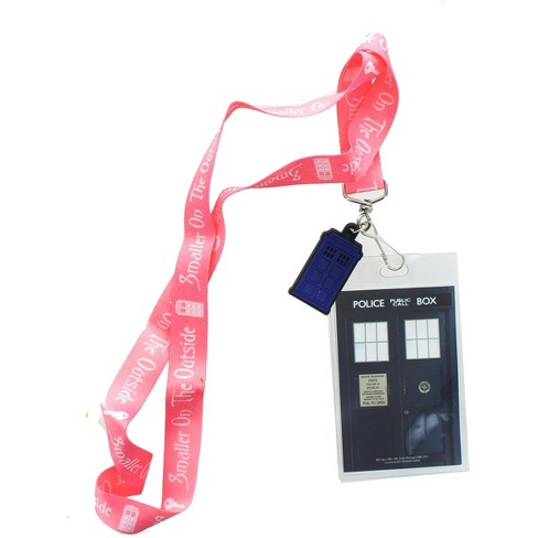 Seven20 Doctor Who Smaller On The Outside with 2D TARDIS Lanyard Charm - image 1 of 1