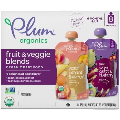Plum Organics Stage 2 Fruit & Veggie Baby Meals - 8ct/4oz Each