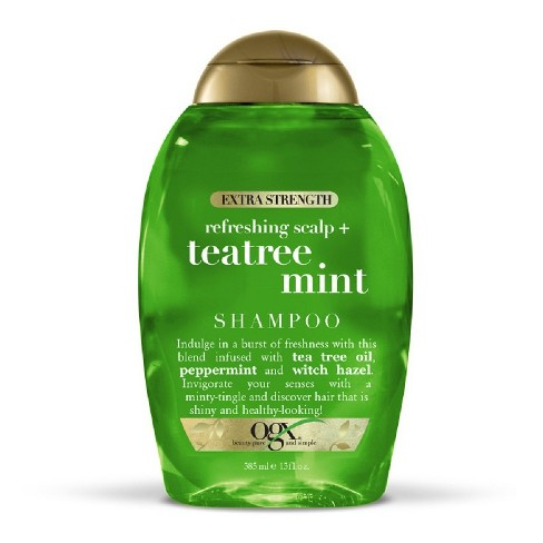 OGX Extra Strength Refreshing Scalp + Tea Tree Mint Shampoo - 13 fl oz - image 1 of 3