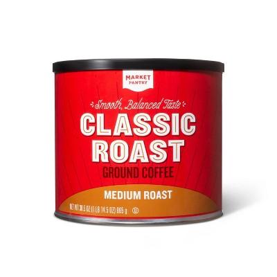 Classic Roast Medium Roast Ground Coffee - 30.5oz - Market Pantry™