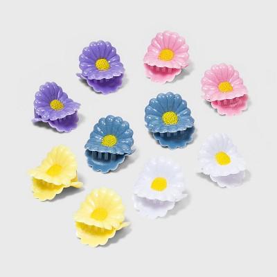 Mini-Daisy Claw Hair Clips Set 10pc - Wild Fable™