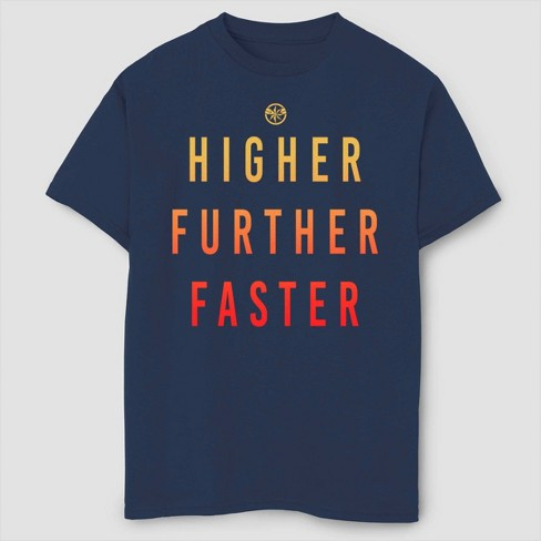 Boys' Captain Marvel Marvels Saying Short Sleeve T-Shirt - Navy - image 1 of 1