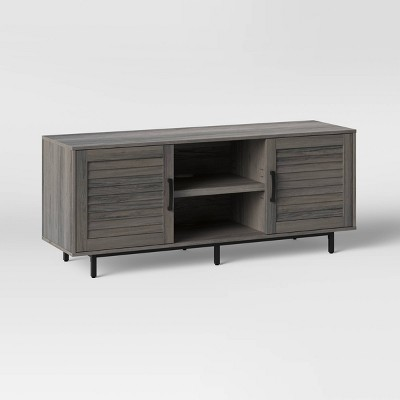 "Storage TV Stand for TVs up to 55"" Gray - Threshold™"