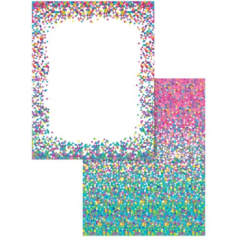 Astrodesigns 2-Sided Preprinted Stationery, 8-1/2 x 11 Inches, Confetti, 100 Sheets - image 1 of 1